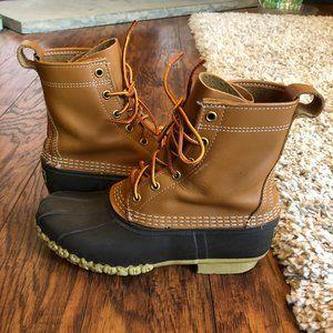 "Women's Bean Boots by L.L. BEAN 8"" Size 8M Brown"